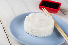 Rice on plate Stock Image