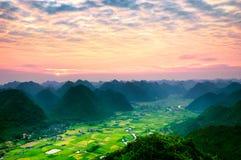 Rice pola w północnym zachodzie Wietnam Zdjęcia Stock