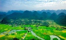 Rice pola w północnym zachodzie Wietnam Obraz Royalty Free