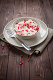 Rice with pomegranate Royalty Free Stock Photo