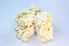 Rice Popped. With white background Royalty Free Stock Photography