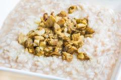 Rice with porcini mushrooms boletus edulis Royalty Free Stock Image