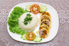 Rice with pork Stock Images