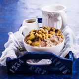 Rice porridge with banana Royalty Free Stock Photography