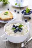 Rice porridge with blueberry Royalty Free Stock Photography