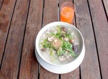 Rice porridge breakfast Stock Image