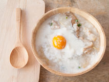 Rice porridge for breakfast Stock Images