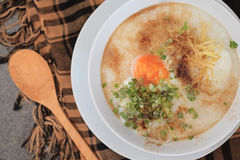 Rice Porridge with mince pork Stock Photos