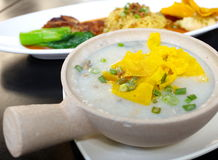 rice porridge with pork Stock Image