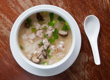 Rice porridge with pork Royalty Free Stock Images