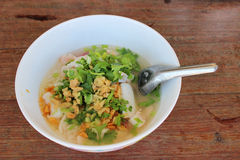 Rice porridge with seafood. And vegetable Stock Photo
