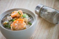 Rice porridge with shrimp Stock Photography