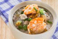 Rice porridge with shrimp Royalty Free Stock Photography
