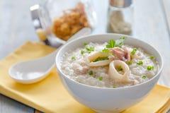 Rice porridge with shrimp Stock Images