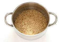 Rice in a pot Stock Images