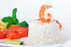 Rice with Prawn Royalty Free Stock Images