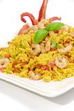 Rice with prawns royalty free stock photography