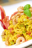 Rice with prawns royalty free stock images