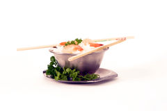 Rice and prawns2 Royalty Free Stock Photography