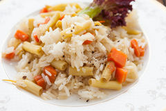 Rice prepared with vegetables Royalty Free Stock Photo