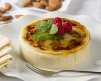 Rice pudding with almonds Stock Images