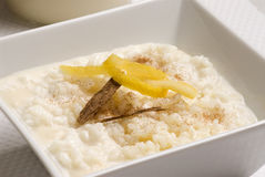Rice pudding. Arroz con leche. Royalty Free Stock Photos