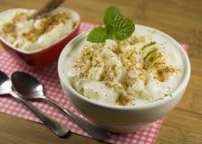 Rice pudding bowl Stock Photography