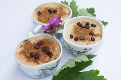Glasses of milk with rice Royalty Free Stock Photos