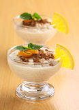 Rice Pudding with Cinnamon Stock Photography