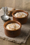 Rice pudding with cinnamon and sugar Royalty Free Stock Photo