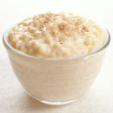 Rice Pudding with Nutmeg Stock Photography