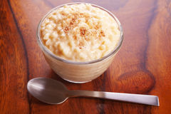 Rice Pudding with Nutmeg Royalty Free Stock Image