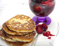Rice pudding pancake Royalty Free Stock Photos