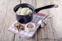 Rice pudding in a pot Royalty Free Stock Photo