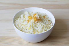 Rice with pumpkin boiled in milk Stock Photography
