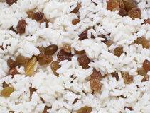Rice with raisins Stock Images