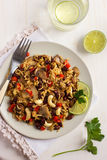 Rice with  red bean, mushrooms and vegetables Stock Photography