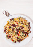 Rice with red beans and vegetables Stock Image