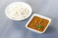 Rice & Red kidney beans or Rajma Royalty Free Stock Photography