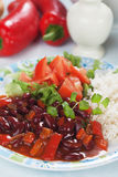 Rice and red kidney beans Stock Image