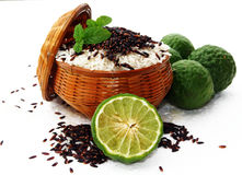 Rice and rice berry. Are clean food for you Stock Photos