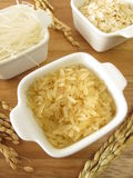 Rice, rice noodles and rice flakes Stock Photography