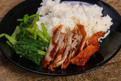 Rice with roasted duck breast