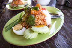 Rice with roasted pork Royalty Free Stock Images