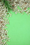 Rice and Rosemary Frame Royalty Free Stock Photography