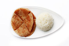 Rice and Roti Royalty Free Stock Photography