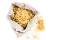 Rice in a sack Stock Photo