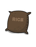 Rice sack illustration. Bag of rice drawing Royalty Free Stock Photos