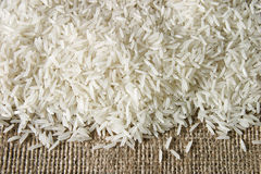 Rice on sacking Royalty Free Stock Photos