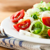 Rice salad with cherry tomatoes and pepper Stock Photography